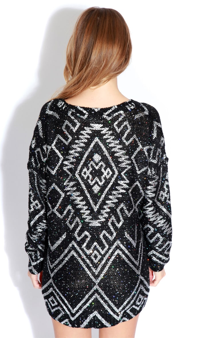 Bethan Black & Silver Embellished Sweater 5