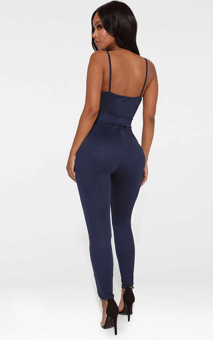 Shape Navy Wrap Cami O-Ring Jumpsuit 2