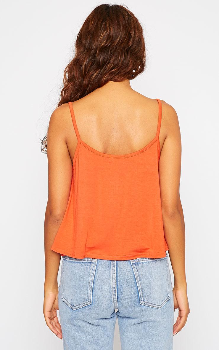 Basic Orange Jersey Swing Cami Top 2