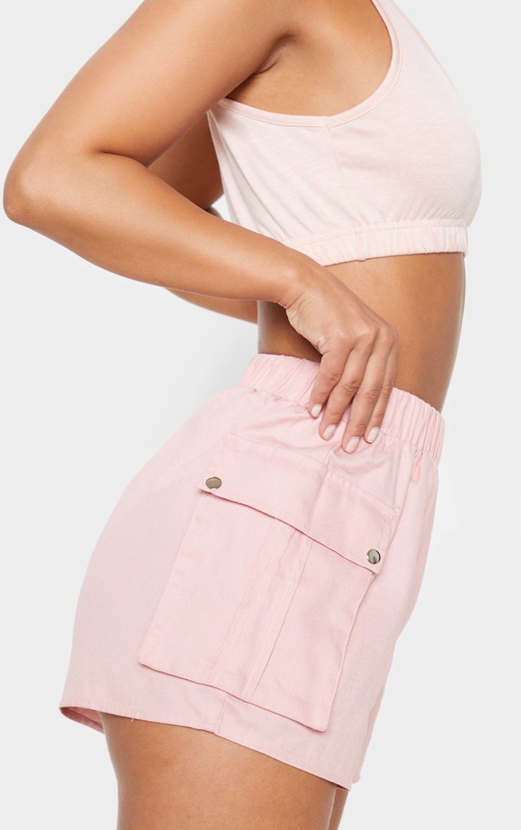 Petite Dusty Pink Cargo Pocket Shorts 6