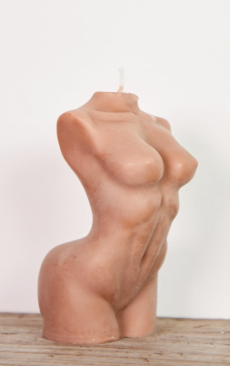 Brown Large Female Body Candle 14cm 5