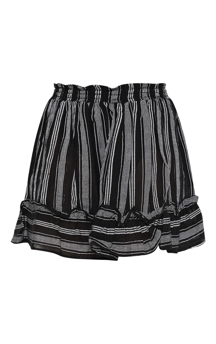 Petite Black Cheesecloth Striped Floaty Skirt 3