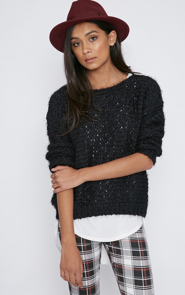 Hadley Black Cropped Jumper  1