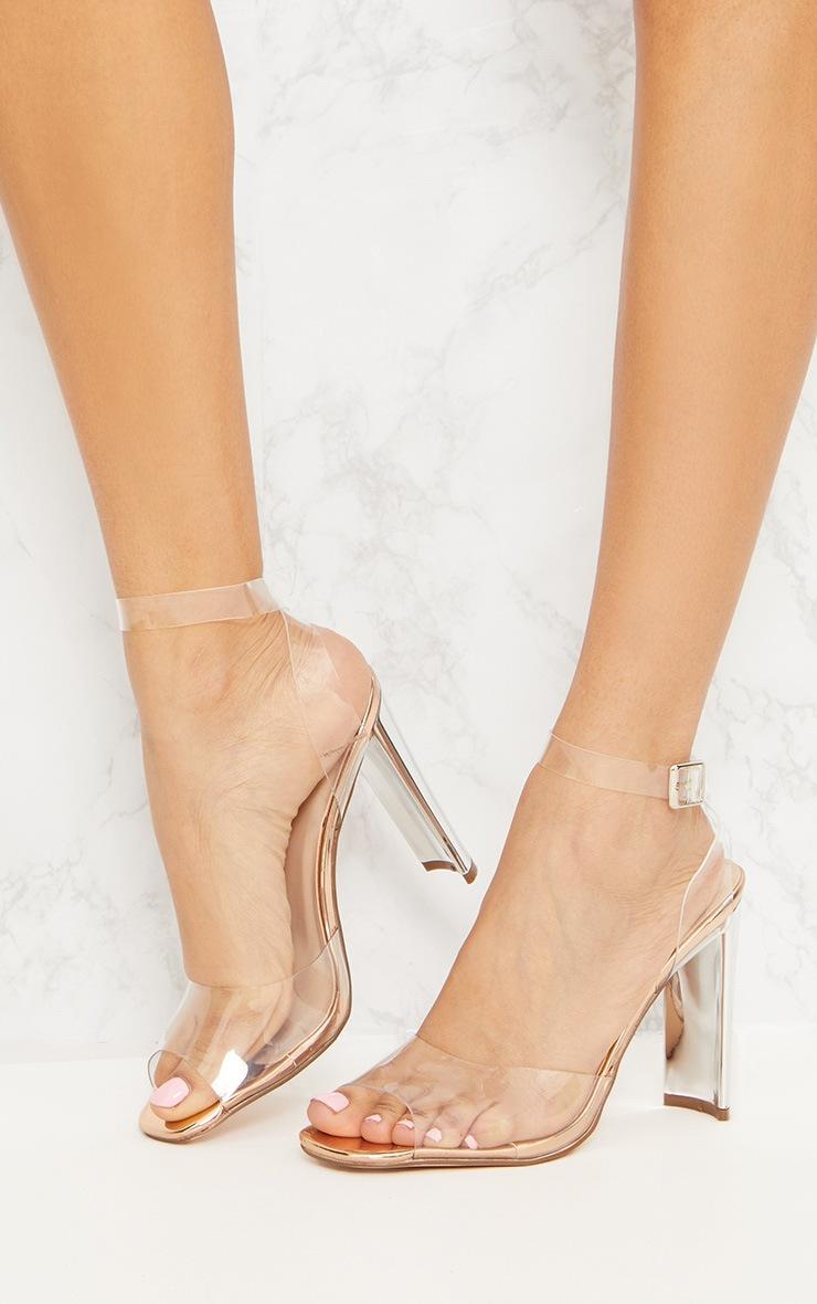 Gold Clear Flat Heel Sandal 2