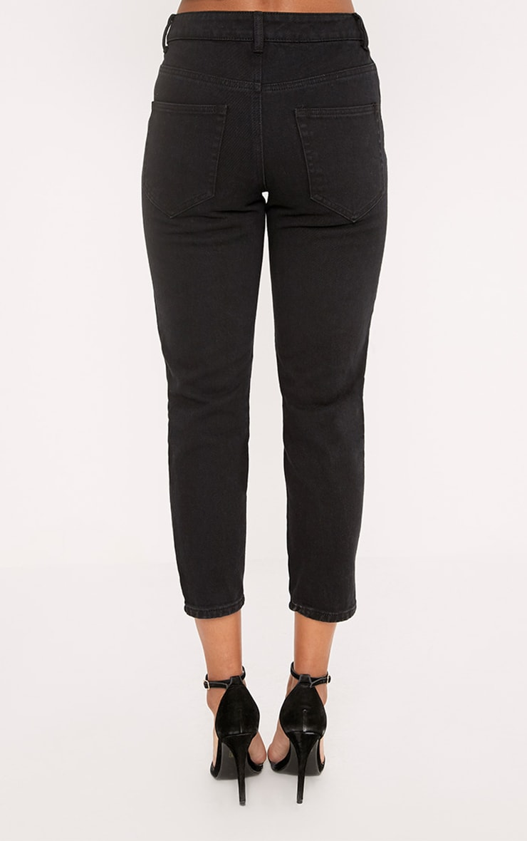 Black Extreme Shred Straight Leg Jean 4