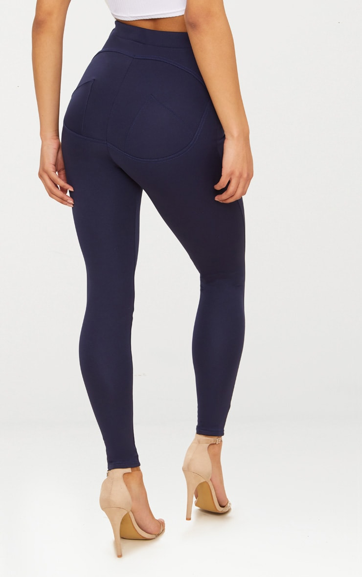 Navy Contour Seam Detail Legging 3