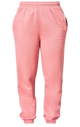 PRETTYLITTLETHING Dusty Pink Embroidered Cuffed High Waisted Drawstring Joggers 5