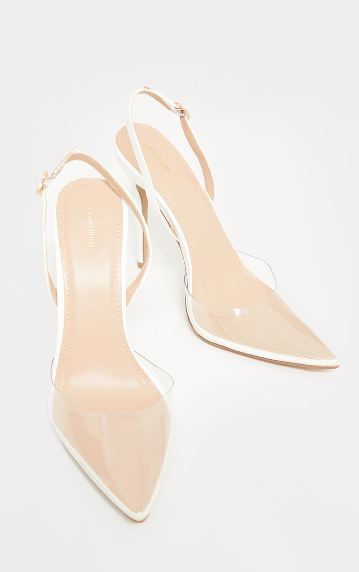 White Clear Court Heels 4