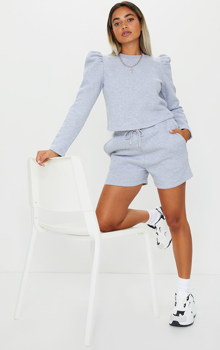 Petite Grey Sweat Short 4