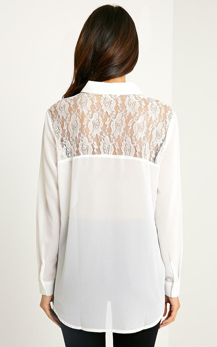 Ruri Cream Lace Detail Shirt 2