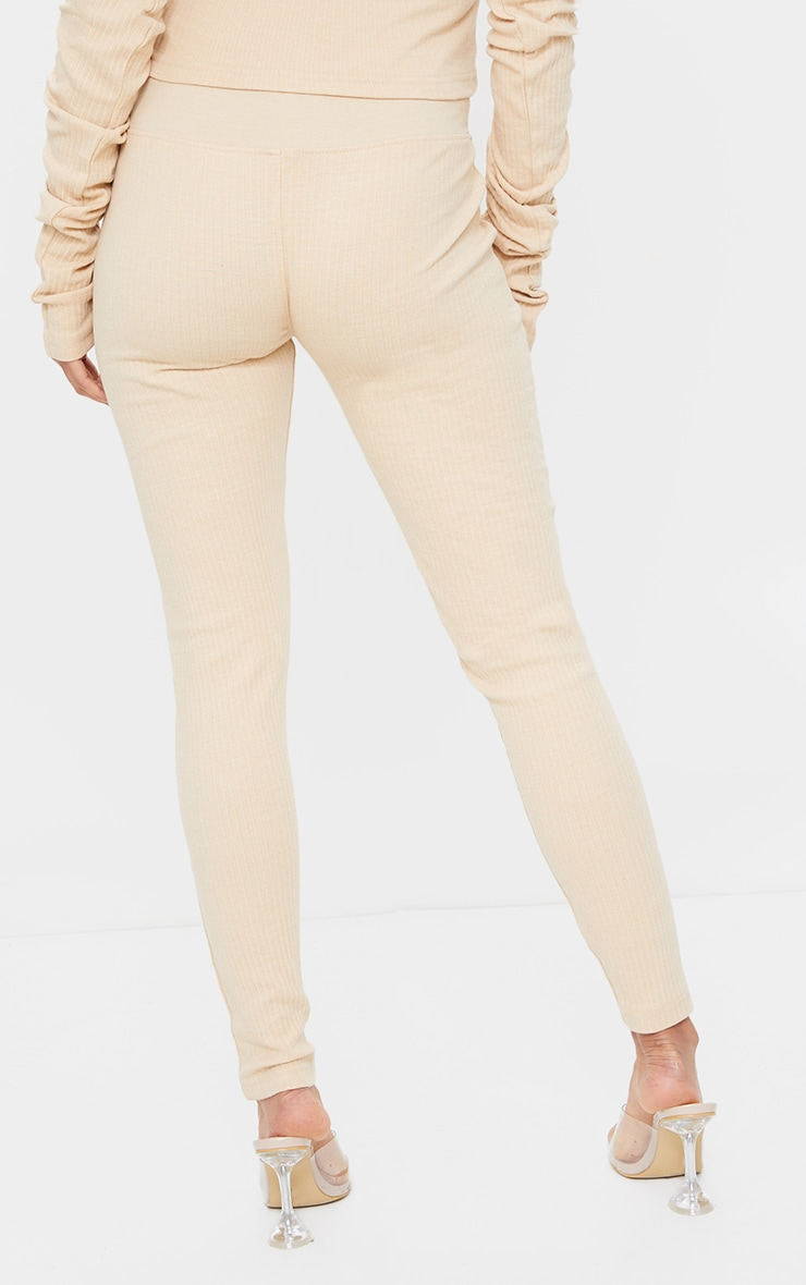 Maternity Camel Bump Support Ribbed Leggings 3
