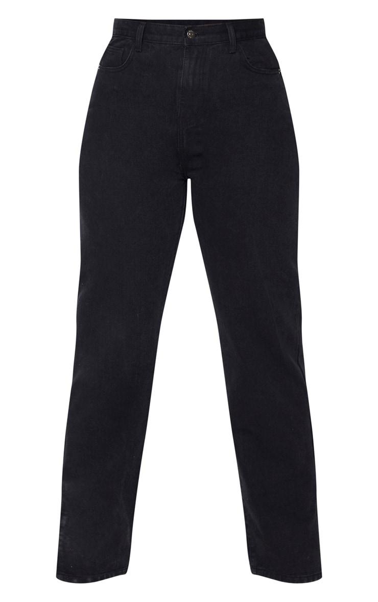 PLT Plus - Jean noir à ourlet fendu 3