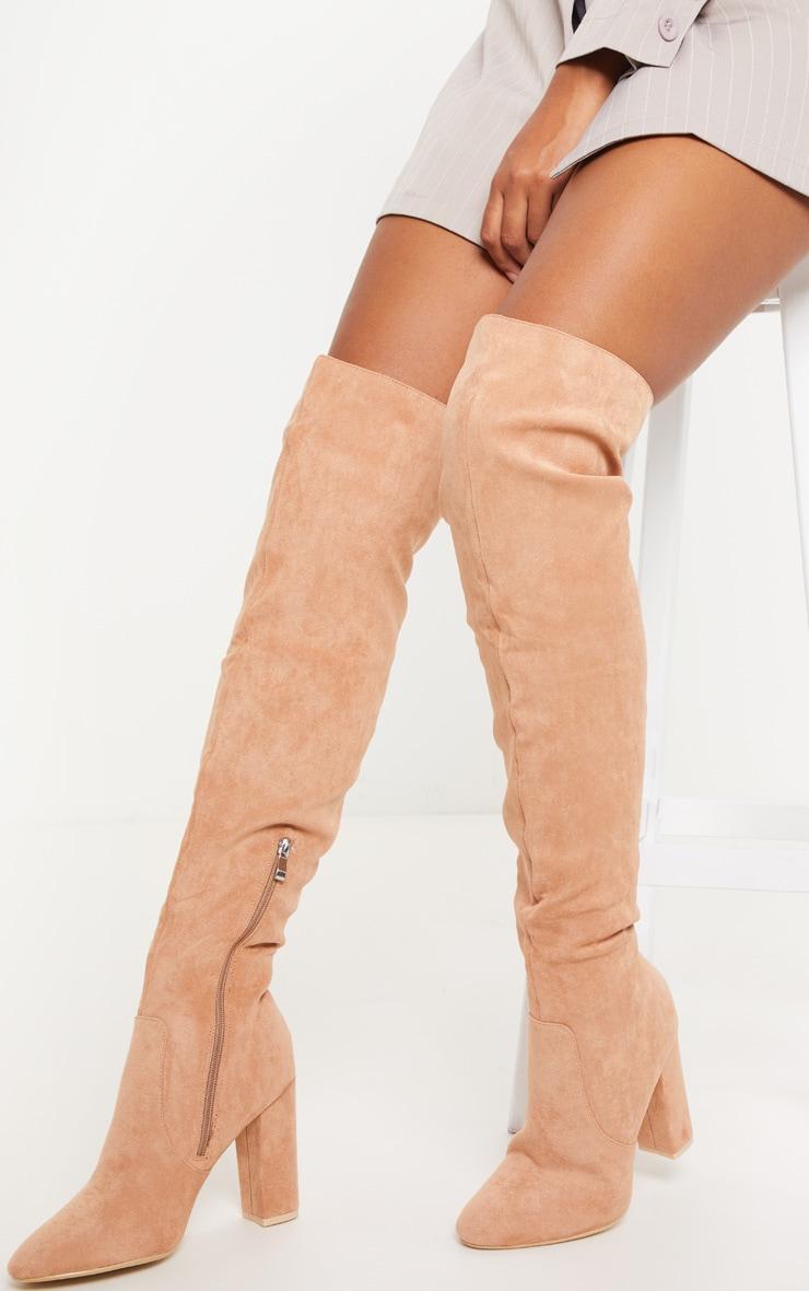 Nude Over The Knee Behati Boot  1