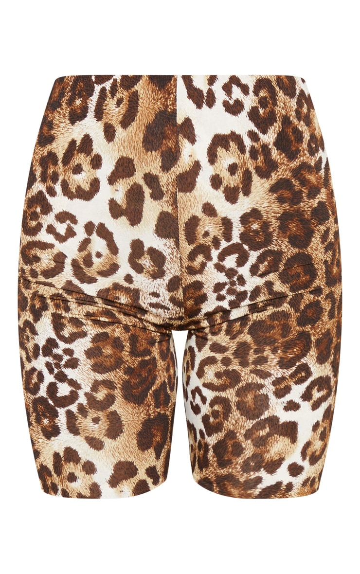 Brown Leopard Slinky Bike Short 6