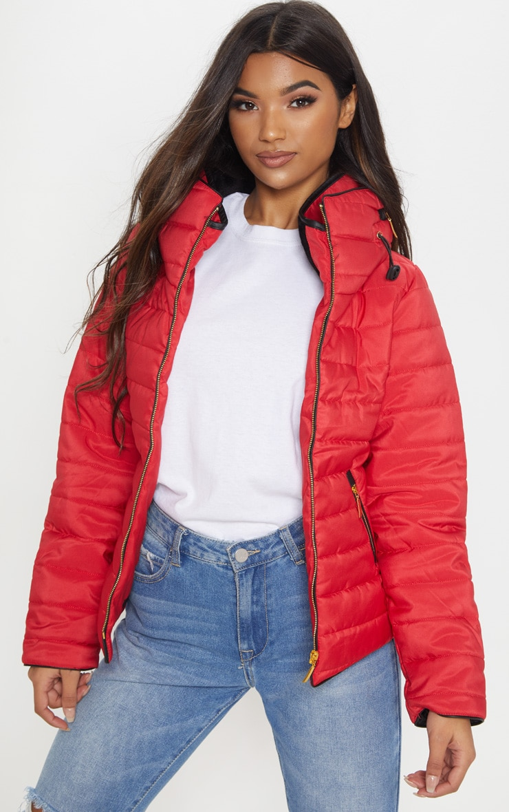 Mara Red Puffer Jacket 4