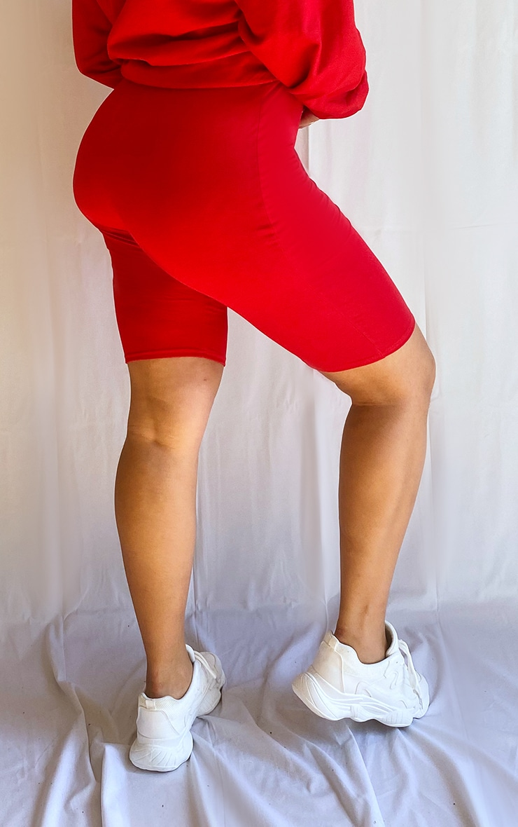 Plus Red Basic Bike Shorts 3