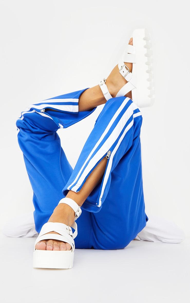 White Cleated Flatform Gladiator Sandals 2