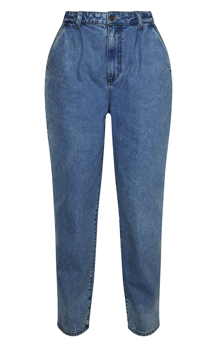 Mid Wash Oversized Balloon Mom Jean 3