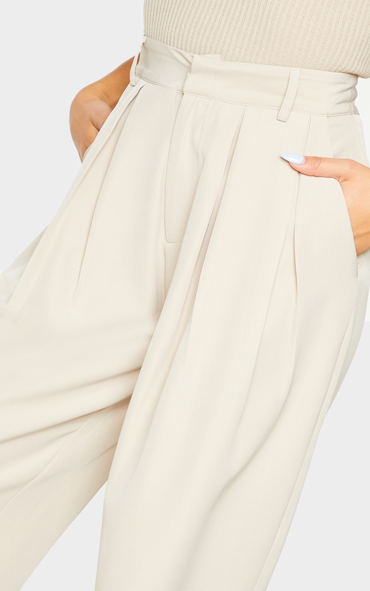 Stone Woven High Waisted Cigarette Pant 4