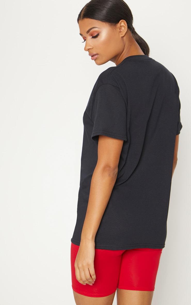 Tee-shirt oversized noir à slogan PRETTYLITTLETHING 2
