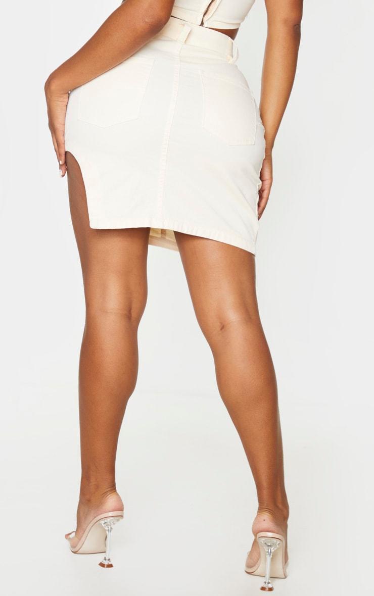 Shape - Jupe en jean écru à ourlet arrondi détail coutures 3