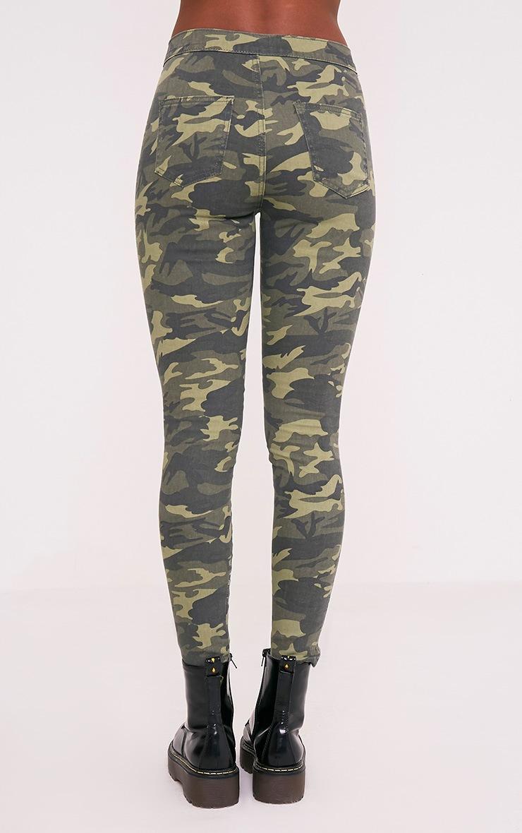 Khaki Camo High Rise Skinny Jean 6