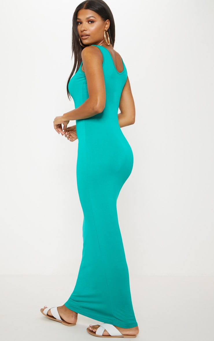 Basic Jewel Green Maxi Dress 2