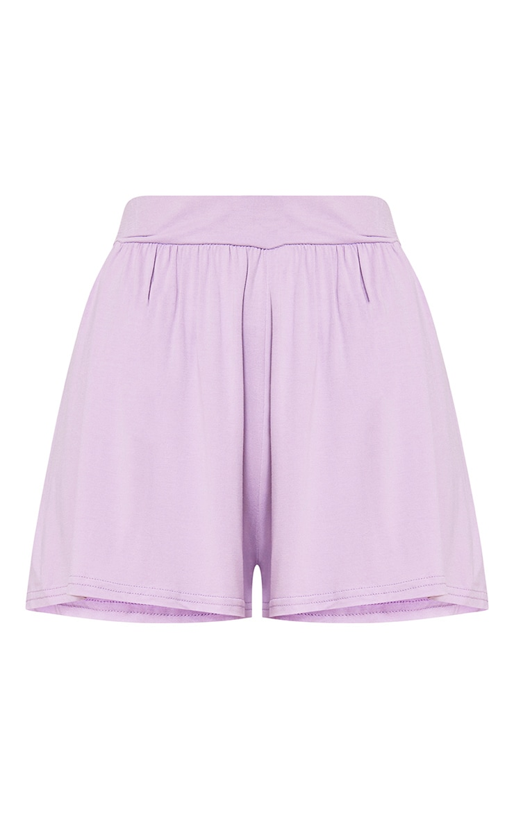 Lilac Jersey Floaty Shorts 2