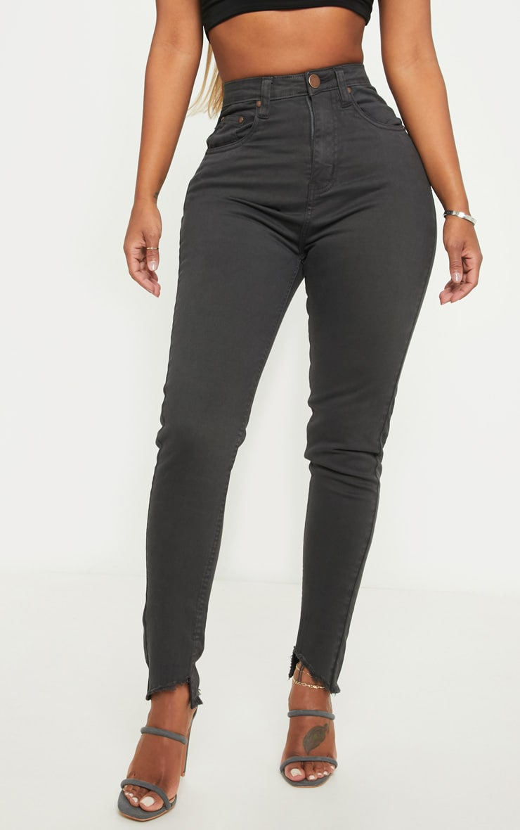 Shape Charcoal High Waisted Skinny Jeans 2