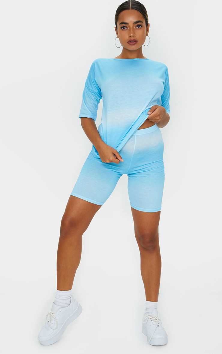 Petite Blue Ombre Cycle Short 1