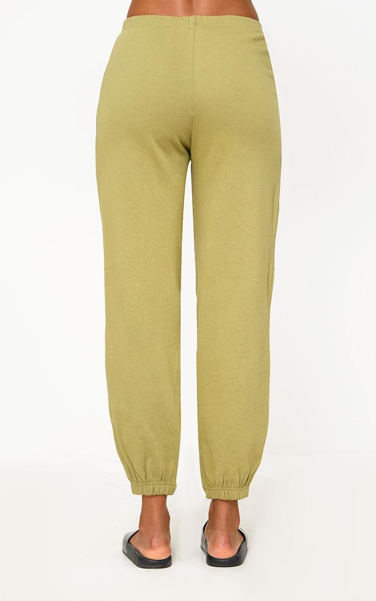 PRETTYLITTLETHING Khaki Branded Joggers 4