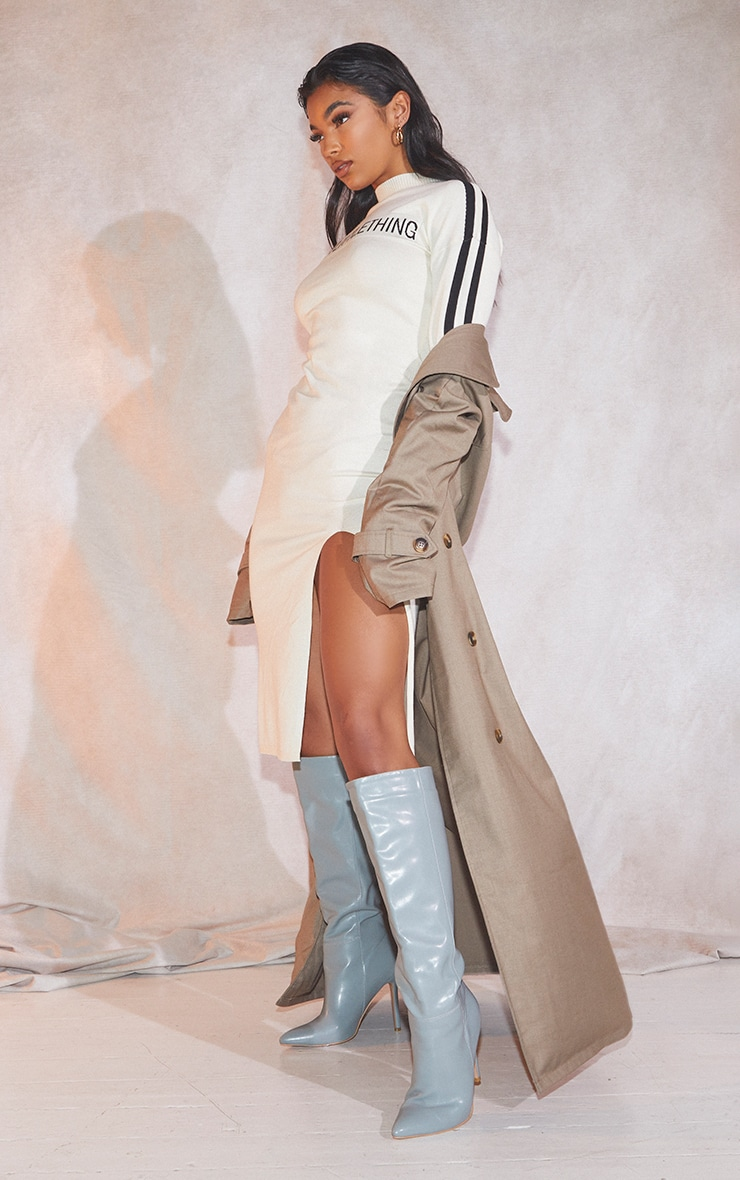 Trench coat oversize tissé gris pierre