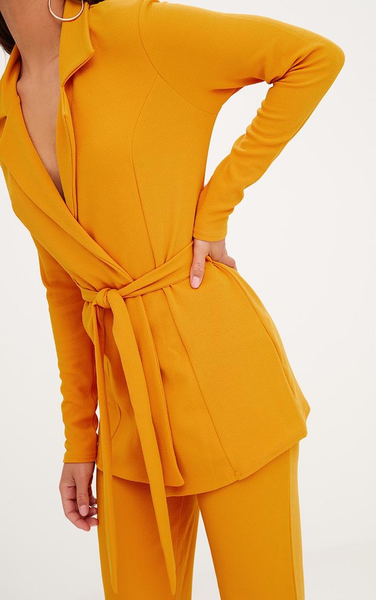 Mustard Belted Blazer  5