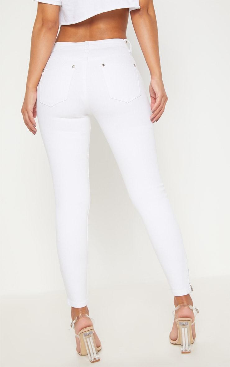 Petite White  Ankle Grazer Skinny Jean 4