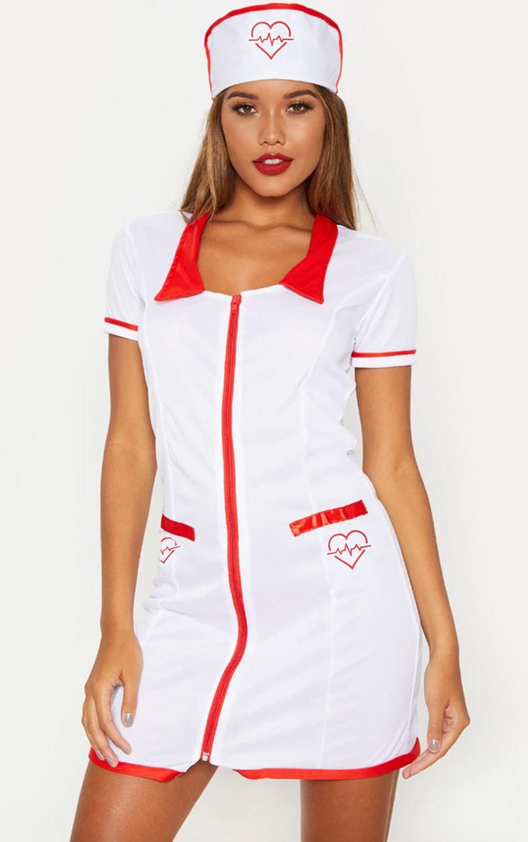Sexy Nurse Halloween Fancy Dress Outfit 1