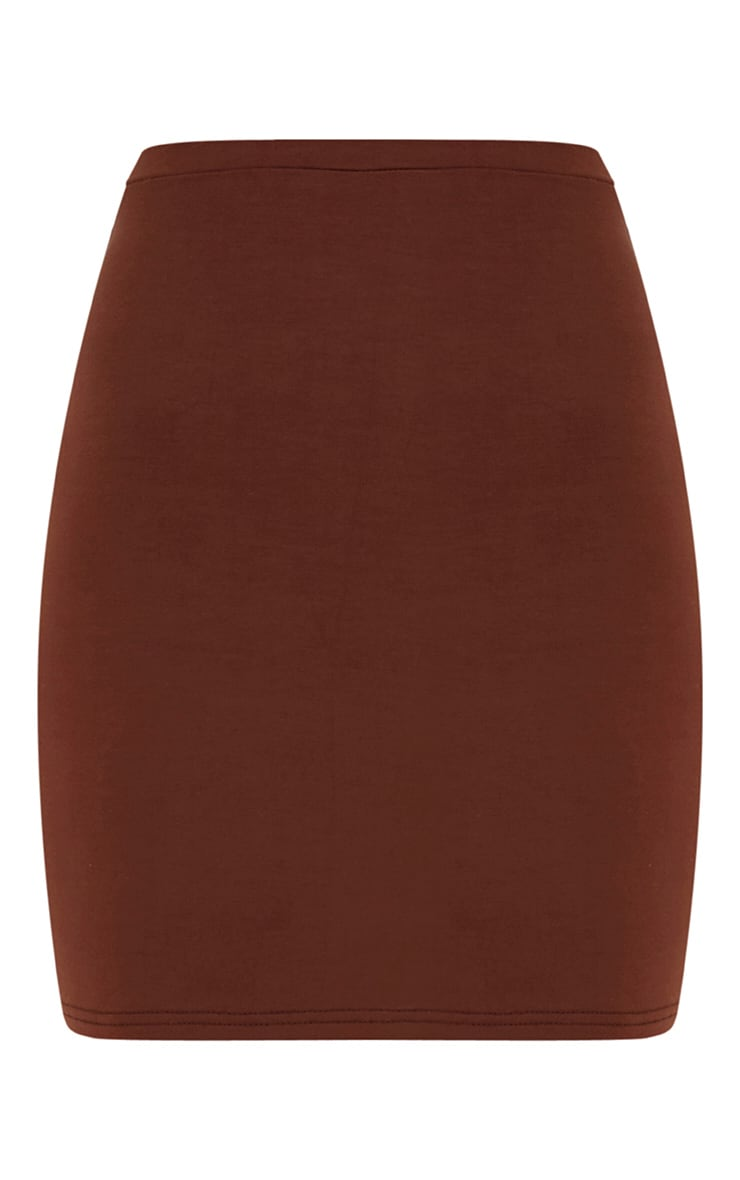 Chocolate Brown Ultimate Jersey Mini Skirt 3