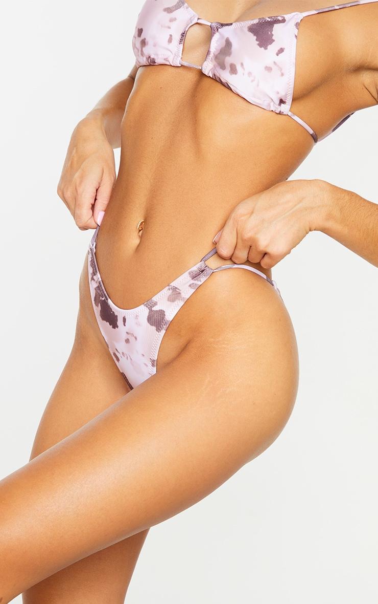 Brown Cow Cut Out Tie Bikini Bottoms 4