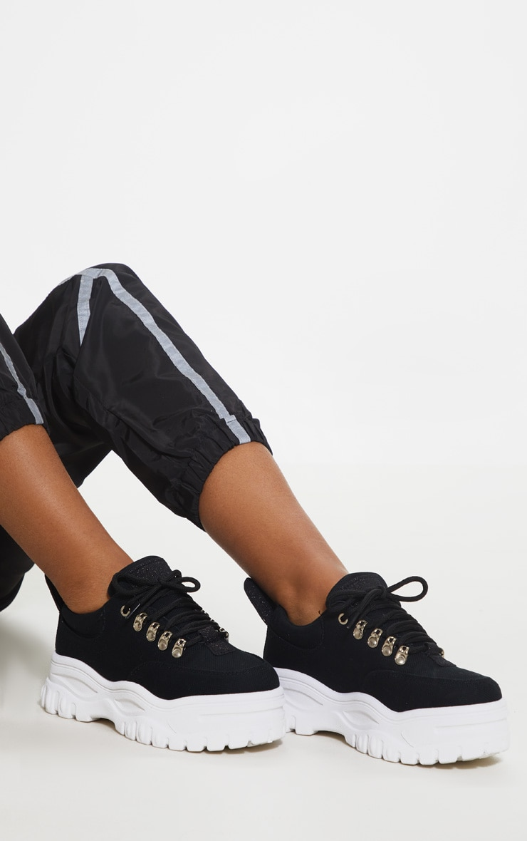 Black Flatform Chunky Hiker Trainer 2