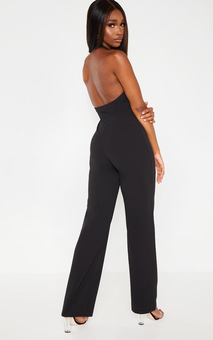 Black Halterneck Wide Leg Jumpsuit 2
