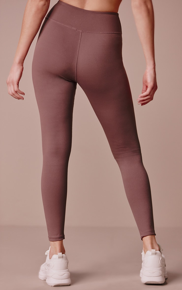 PRETTYLITTLETHING Chocolate Sculpt Luxe Gym Leggings 3