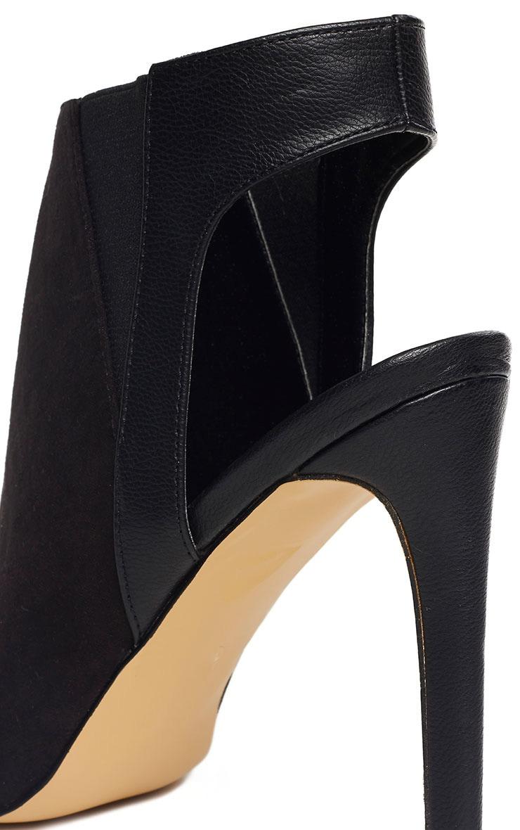 Raeanne Black Open Heel Shoes 5