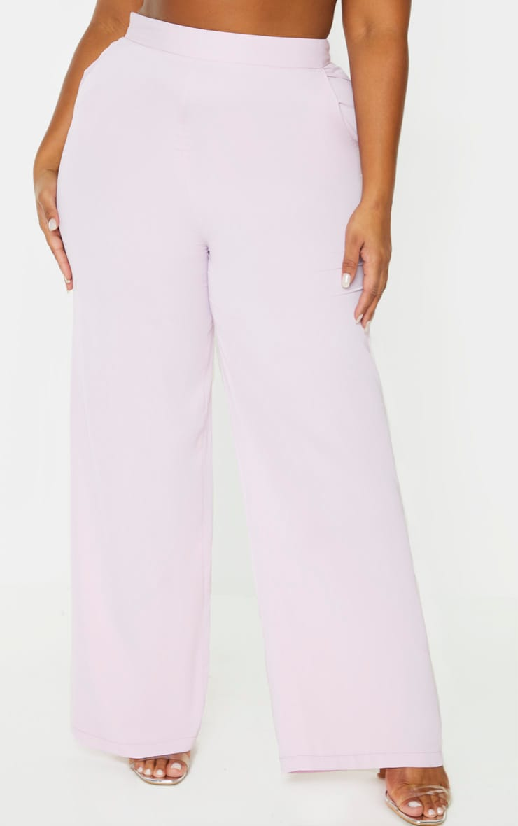 Plus Lilac Extreme Wide Leg Trouser 2