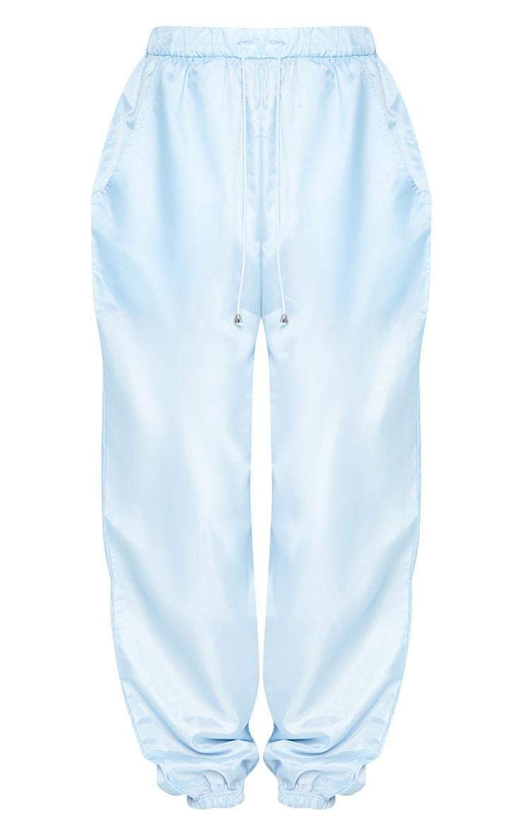 Pastel Blue Shell Cuff Joggers 4