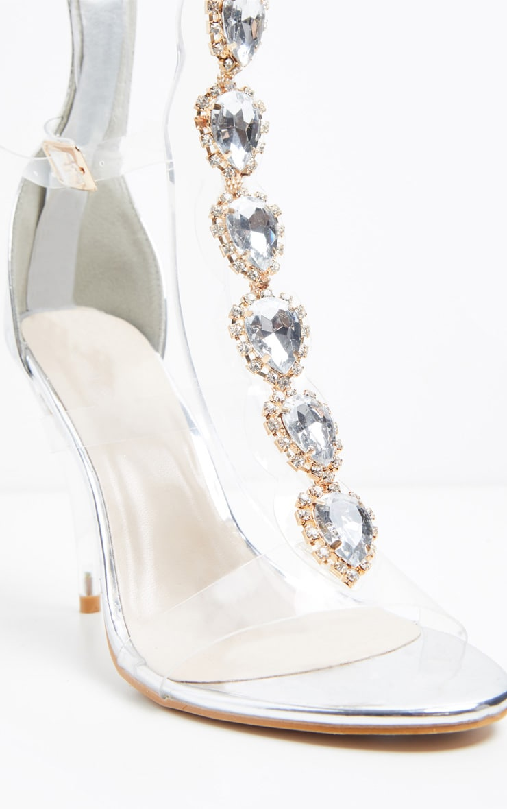 Silver Jewelled Knee High Sandal 3