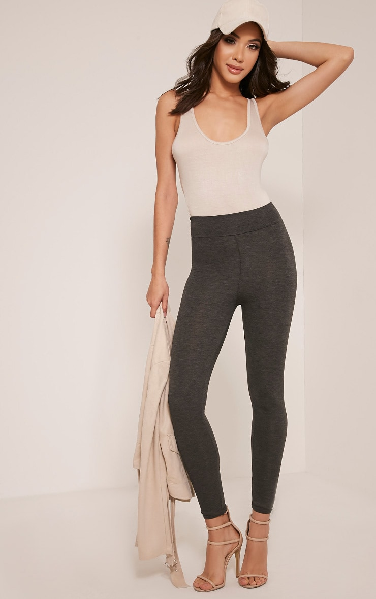 best loved for sale special for shoe Dabria Charcoal High Waisted Jersey Leggings
