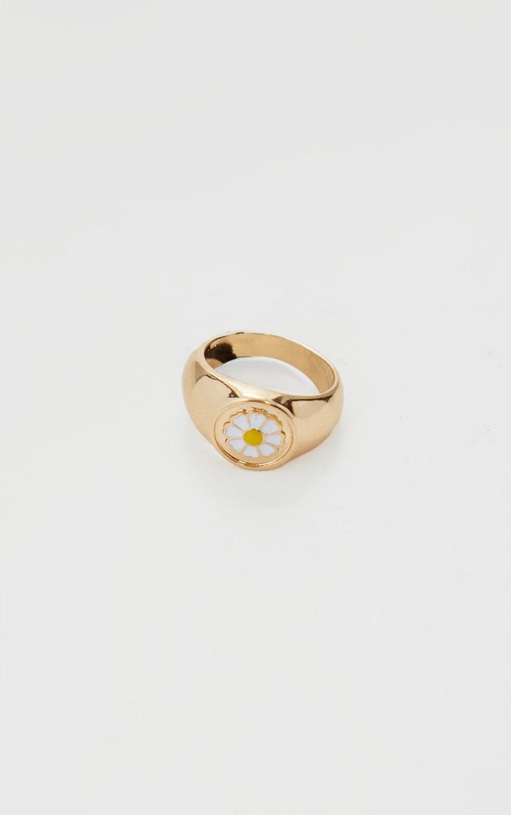 Gold Daisy Ring 1