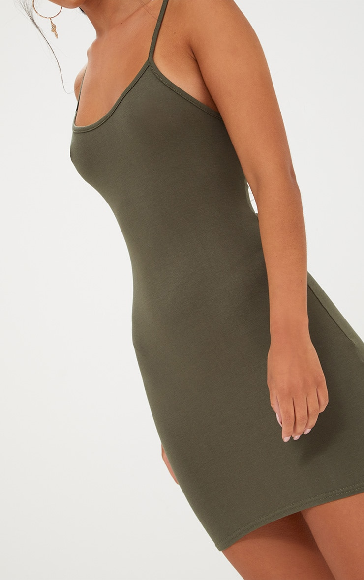 Khaki Strappy Bodycon Dress 6