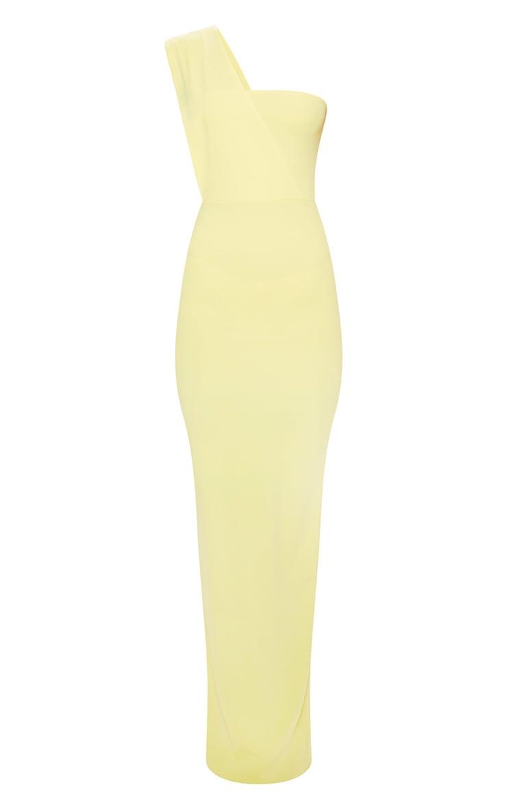 Light Lime One Shoulder Maxi Dress 3