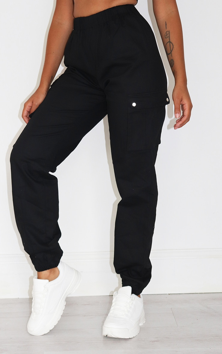 Petite Black Pocket Detail Cargo Pant 2