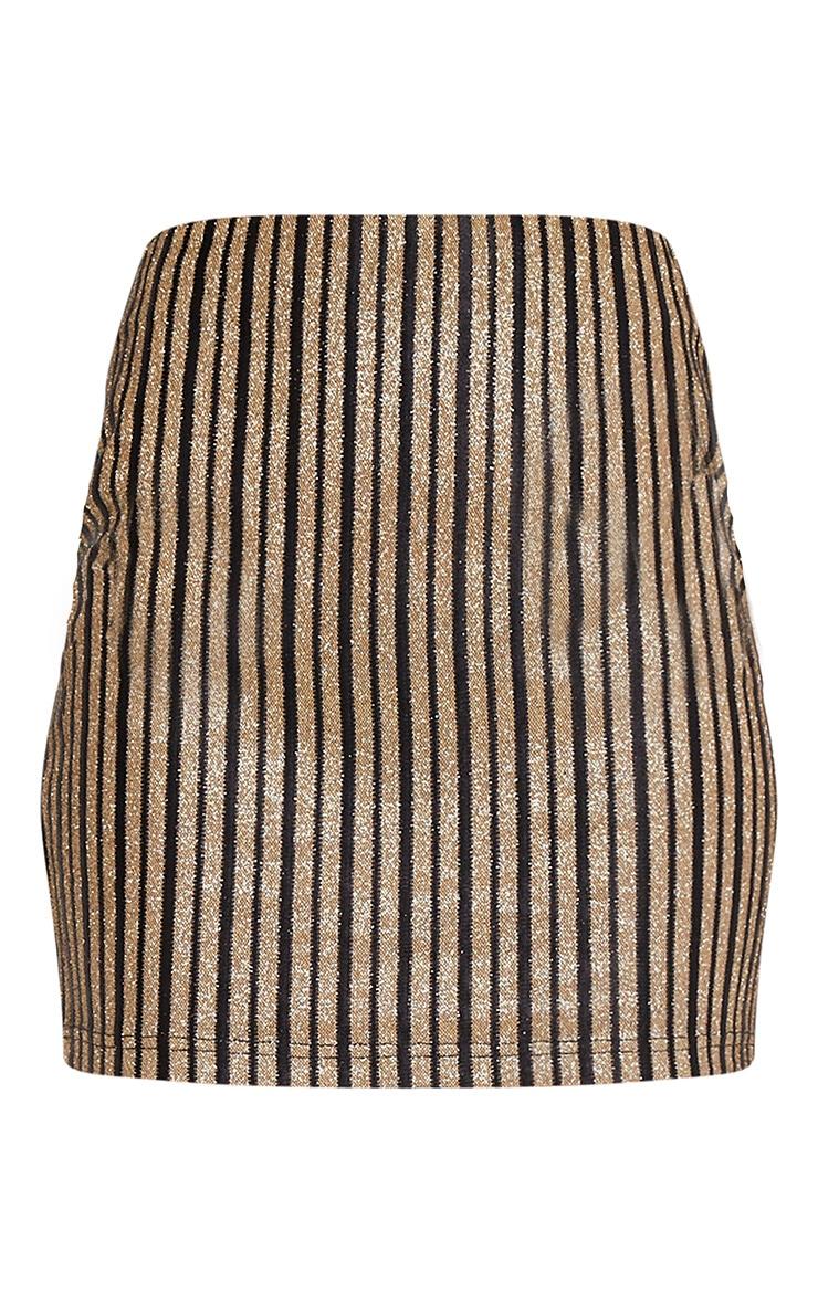 Dianna Black Glitter Stripe Mini Skirt 3